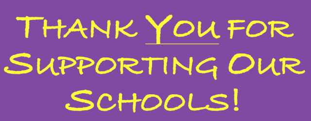 ThankYou for supporting our schools